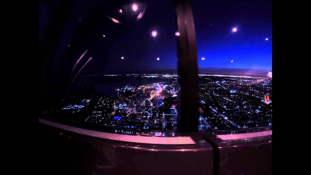 Cn Tower 360 Restaurant View During Dinner Youtube