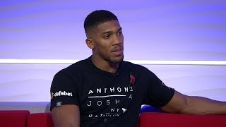 ANTHONY JOSHUA REACTS TO DEONTAY WILDER DEFEATING LUIS ORTIZ