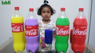 Funny Baby Ishfi  Play and Learn Colors with Colourful Coca Cola