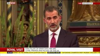 King of Spain on Gibraltar
