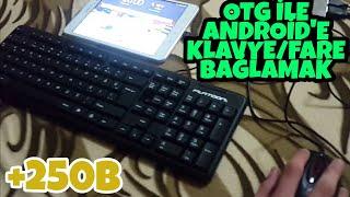 Android Tablet/Telefona Klavye ve Mouse Bağlama (Türkçe Altyazılı)