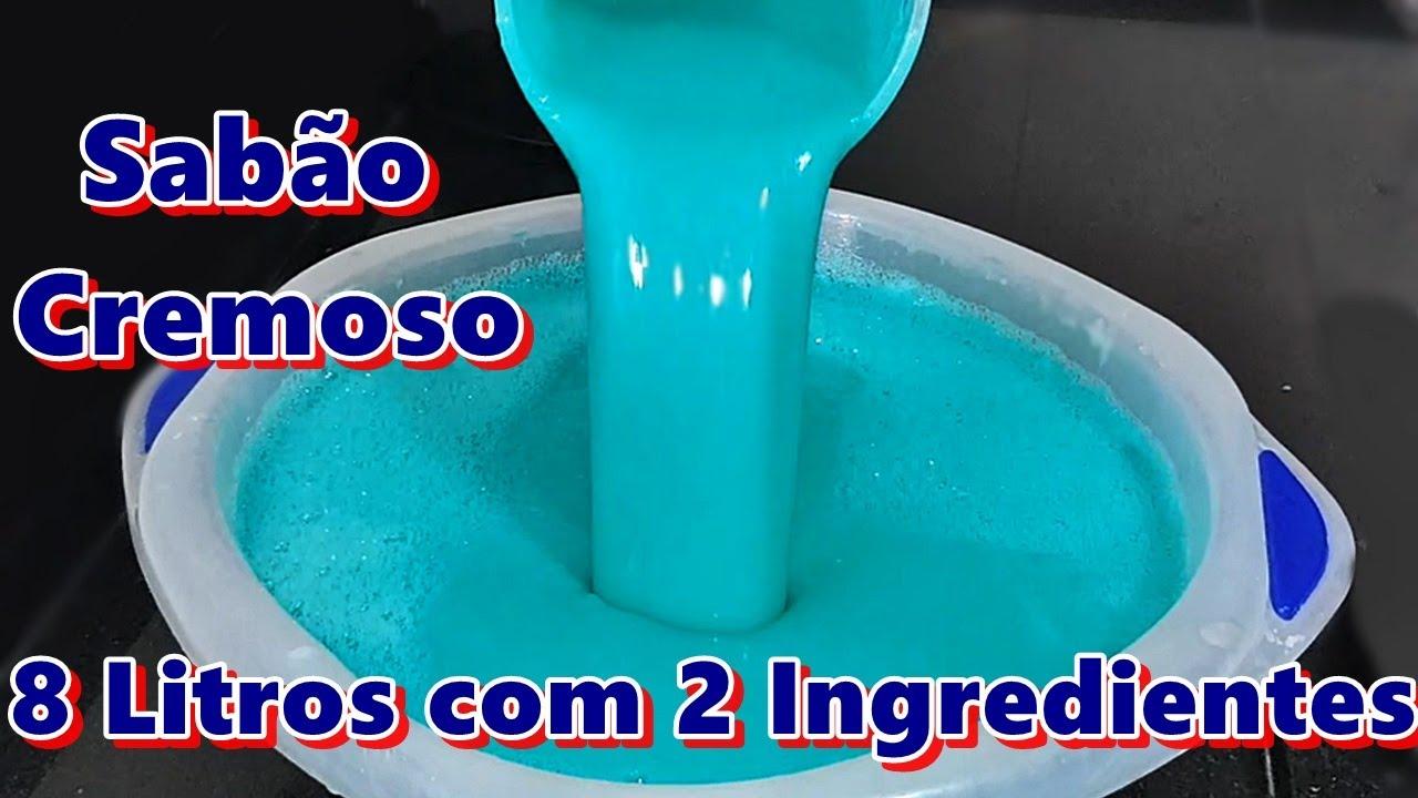 SABÃO CREMOSO - 8 LITROS COM 2 INGREDIENTES