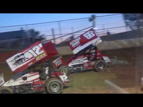 Trail-Way Speedway 358 Sprint Car Highlights 8-26-16