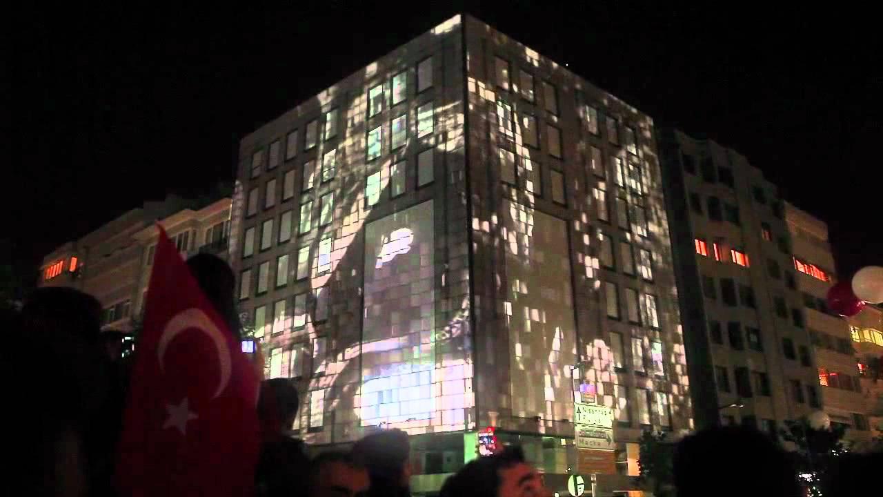29 Ekim Cumhuriyet Bayramı - Mapping Gösterisi - YouTube