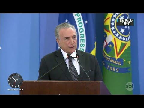 PF pede quebra do sigilo telefônico de Temer e de dois ministros | SBT Notícias (07/06/18)