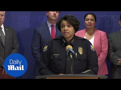 Phoenix Police announce arrest of 'serial street shooter' - Daily Mail