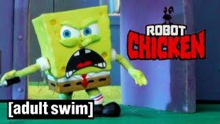 Achtung TRIGGERGEFAHR! Spongebobs Krabbenburger | Robot Chicken | Adult Swim
