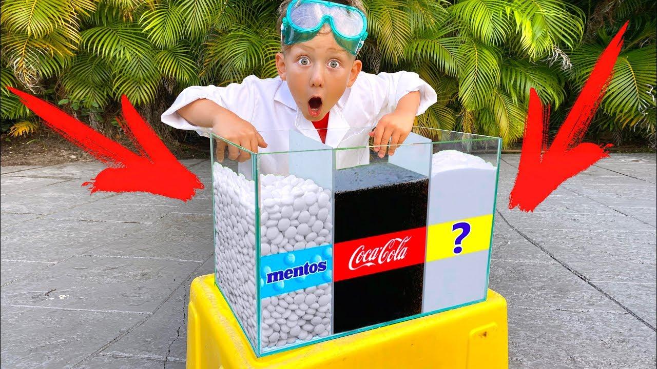 СЕНЯ придумал Эксперимент: КОКА-КОЛА, МЕНТОС и ? ТЫ такого еще НЕ видел!