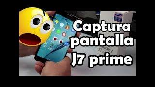 Samsung Galaxy J7 prime Como Capturar la pantalla