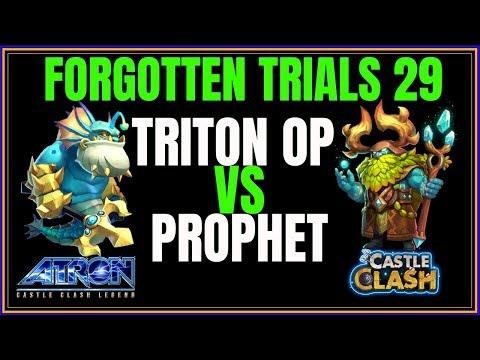 FORGOTTEN TRIALS 29 - TRITON OP - NO LAVA - CASTLE CLASH