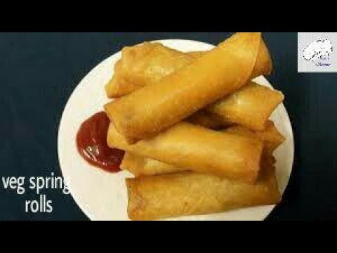 Veg spring rolls recipe in telugu