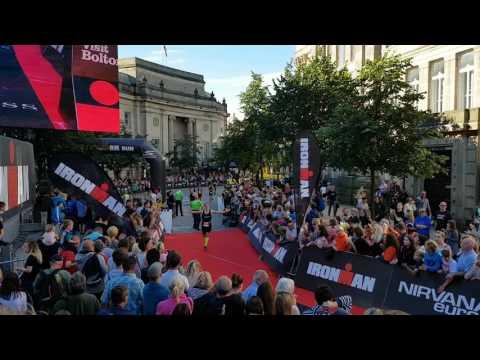 Ironman UK 2016. Andrew Ferguson. finish chute journey!