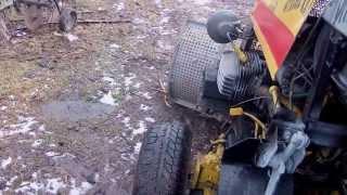 САМОДЕЛЬНЫЙ МИНИ ТРАКТОР  установка насоса на гидравлику после коробки кпп