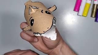 איך מכינים כריש מגליל נייר טואלט - סדנת יצירה לילדים