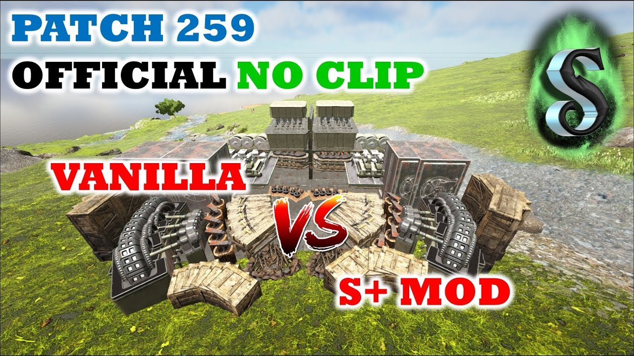ARK PATCH 259: OFFICIAL STRUCTURE NO CLIPPING! VANILLA vs S+ MOD! Building  & Structure Comparison