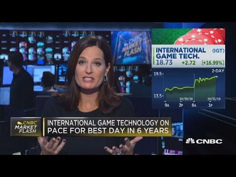 International Game Technology on pace for best day in six years