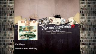 Patti Page - I Went to Your Wedding YouTube Videos