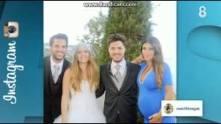Fàbregas y una embarazadísima Daniella Semaan se van de boda