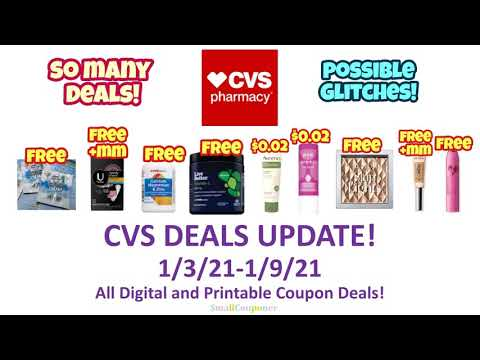 CVS Deals Update 1/3/21-1/9/21! Glitches! All Digital and Printable Coupon Deals!