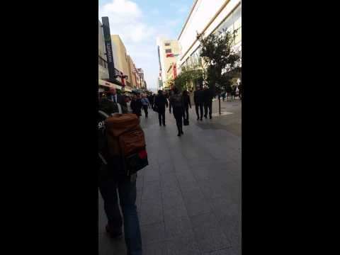 Rundle mall adelaide south australia on wind rider