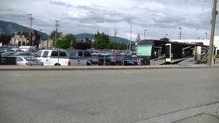 Driving in Salmon Arm - BC (British Columbia) - Canada - Downtown to Residential Area - Shuswap Lake