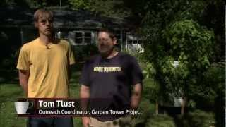 The Garden Tower! The composting vertical patio farm by Garden Tower Project