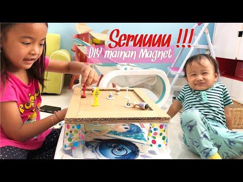 Zara Membuat Game Seru dari Magnet dan Kardus Bekas | Mainan Anak Kreatif | DIY Educative Toys