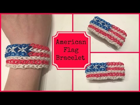 American Flag Bracelet On ONE LOOM! (Remake)