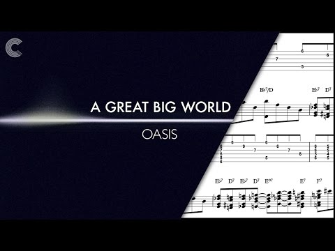 Tenor Sax - Oasis - A Great Big World - Sheet Music, Chords, & Vocals