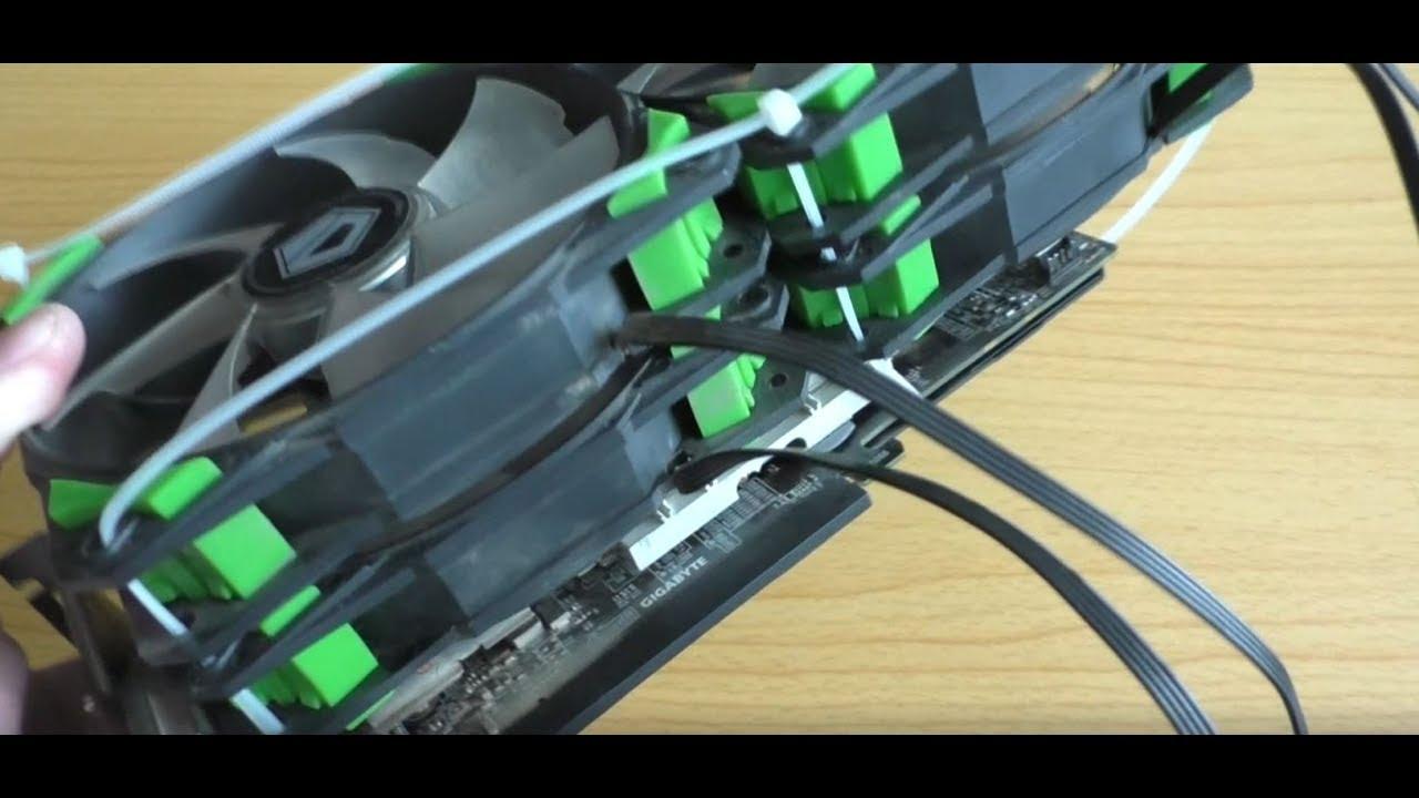 Дикая система охлаждения на видеокарте на 4 вентилятора! Видеокарта Gigabyte RX480 8 Gb