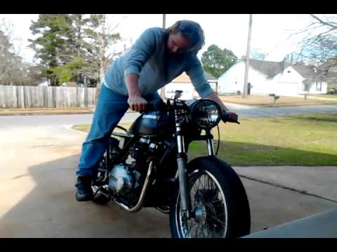 kz750 twin with cr500 carb
