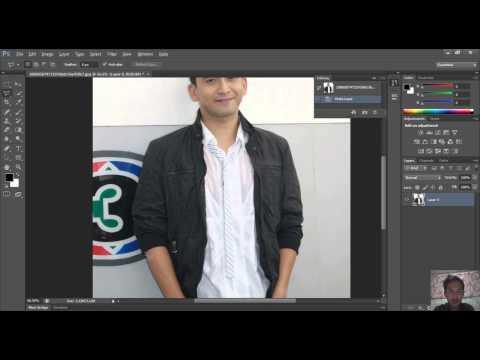การตัดต่อภาพพื้นหลังด้วยโปรแกรม Adobe Photoshop CS6