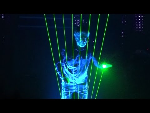 Jean Michel JARRE (Laser Harp The Time Machine ) 2016 LIVE HD LYON (FR)