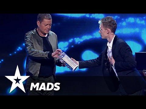 Kan Mads gætte hvad dommerne tænker?  Danmark Har Talent 2017  Live 2