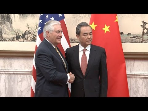 Chinese Foreign Minister Wang Yi Meets US Secretary of State Rex Tillerson