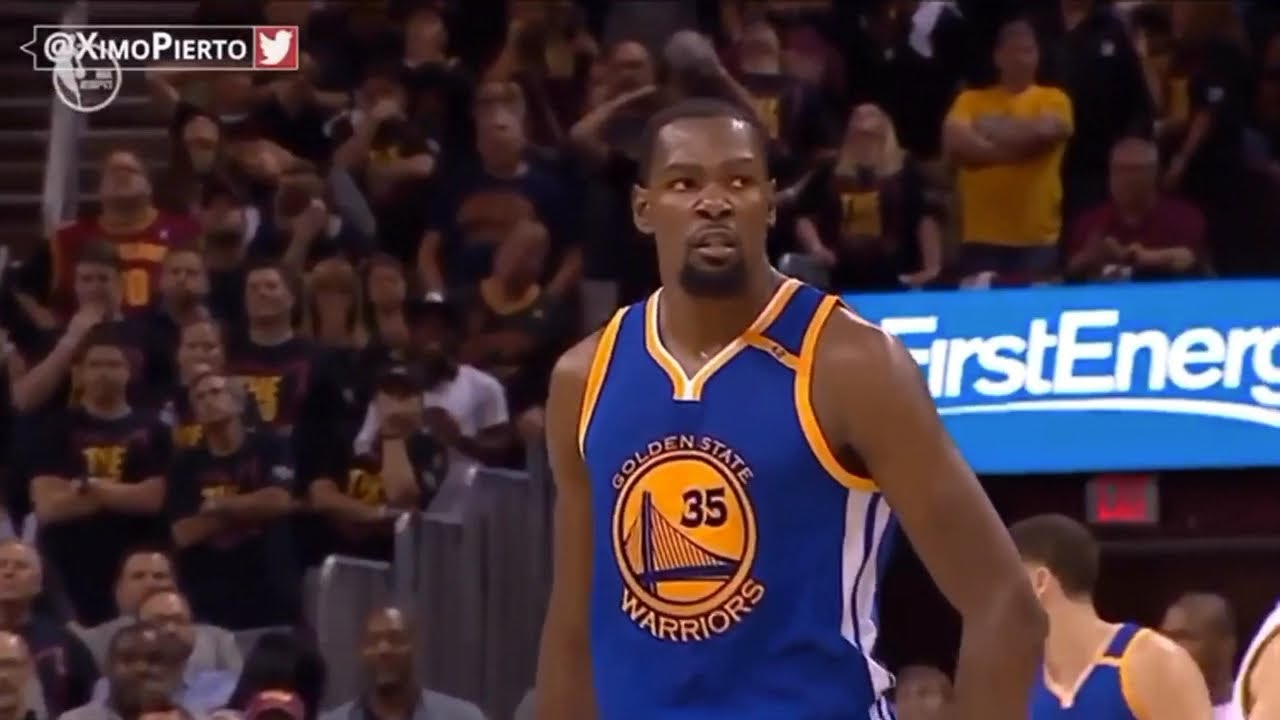 d5ac6828d7fe Kevin Durant s Daggers in both Game 3s of 2017 and 2018 Finals - YouTube