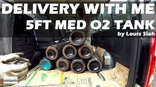 Delivery With Me: 5ft Medical Oxygen Tanks 2017 Sendok Placer X #louissiahpov #lifelinkhomecare