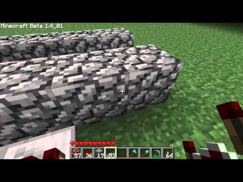 Minecraft - How to Make a TNT Cannon [Tutorial] [Beta 1.4_01]