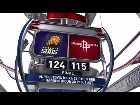 Phoenix Suns vs Houston Rockets | April 7, 2016 | NBA 2015-16 Season