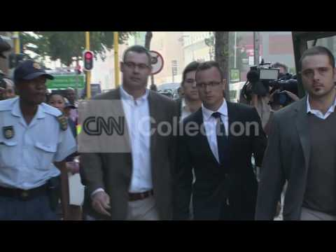 SOUTH AFRICA: OSCAR PISTORIUS ARRIVAL (MONDAY)