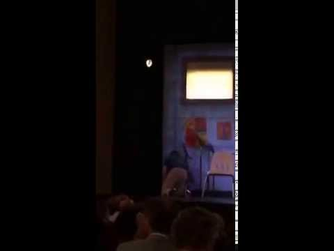 Guest jumps on Broadway's 'Hand to God' play stage to… charge his phone?