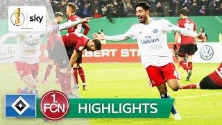 Hamburger SV - 1. FC Nürnberg 1:0 | Highlights - DFB-Pokal 2018/19 | Achtelfinale