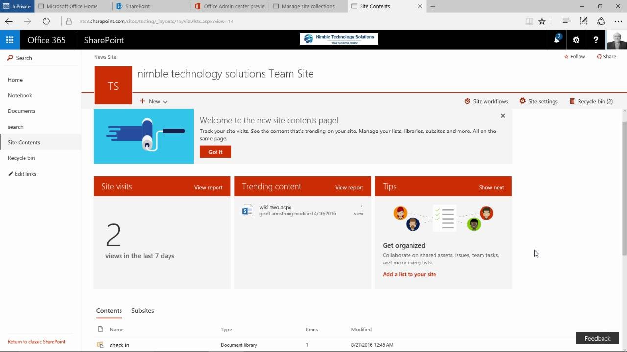how to get a sharepoint site