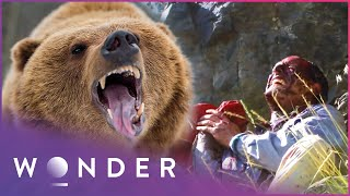 Grizzly Bear Attack Leaves Multiple Casualties | Human Prey S1 EP3 | Wonder