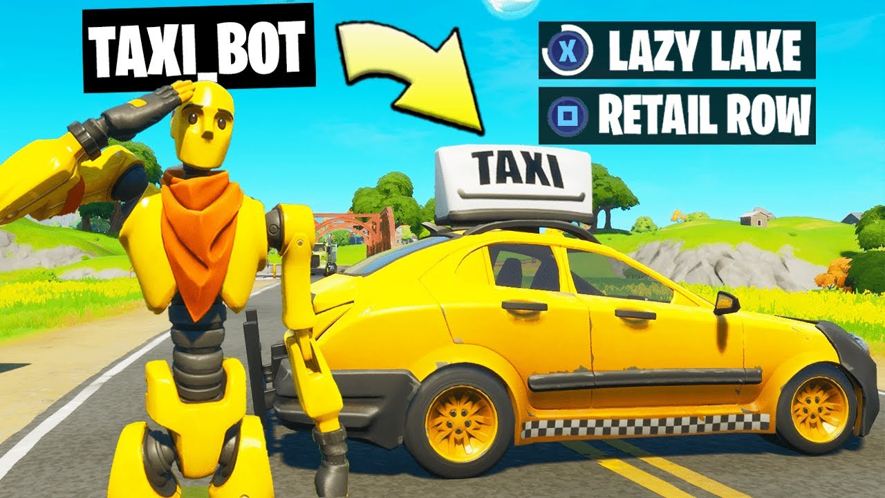 I Pretended to be a TAXI DRIVER Bot in Fortnite