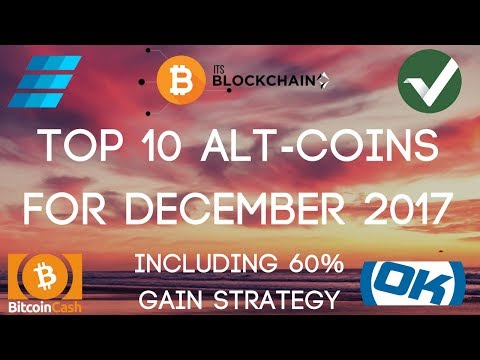 Top 10 Alt-Coins To Invest In For December 2017 | BCH, VTC, EMC2 & More!!