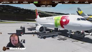 [P3D v4.3] FSLabs A319 Pre-Release! | VOR Visual Approach at Madeira LPMA