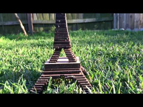 THE EIFFEL TOWER SCULPTURE  OUT OF WOOD