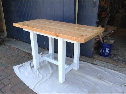 Woodworking : DIY Edge-Grain Butcher Block Kitchen Table // How-To Part 1