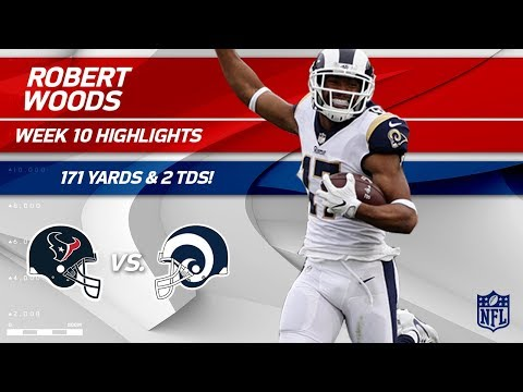 Robert Woods Can't Be Stopped w/ 171 Yards & 2 TDs! | Texans vs. Rams | Wk 10 Player Highlights